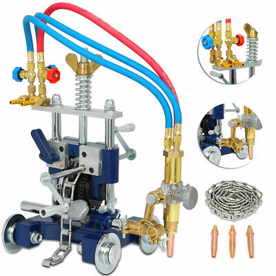CG-211Y Manual Pipe Cutting Beveling Machine Track Torch Burner 5-50mm Thickness