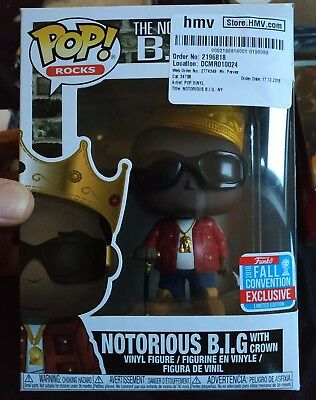 Funko POP! Notorious B.I.G With Crown (Red Jacket) Biggie NYCC Exclusive #82 New