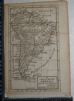 1767 - Map of South America -  J Cowley / E Bowen