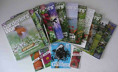 12 Issues Full Year 2018 BBC Gardeners World Magazine Subscriber Edition + Seeds