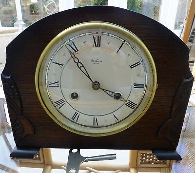 Bentima  8 day Mantel Clock with Perivale movement striking half & hour