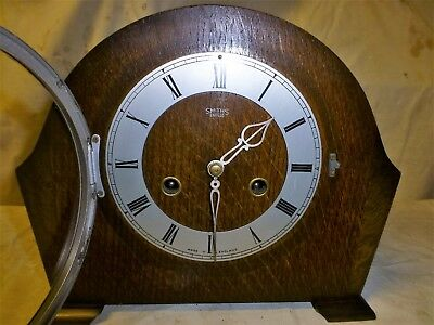 Smith Enfield Mantel clock 8 day striking the half and full hour very reliable