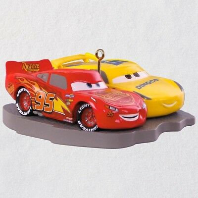 Hallmark 2018 Disney Pixar Cars 3 Lightning McQueen & Cruz Ramirez Ornament