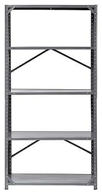 "Edsal 7216H-17 Steel Commercial Shelving Unit 36"" width x 72"" Height x 16"" Depth"