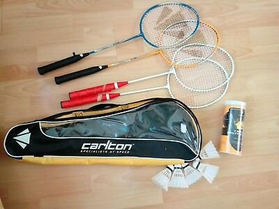 CARLTON BADMINTON SET 4 Rackets & 5 Shuttlecocks