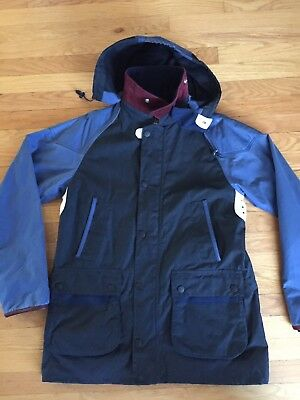 Barbour X Adidas Originals Johbar Waxed Cotton Jacket Mens Large Navy NWT New