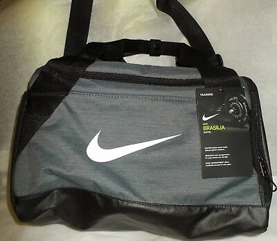 edda0947b721 NIKE BRASILIA DUFFEL Bag X-Small Travel Gym Bag Blue White Black ...