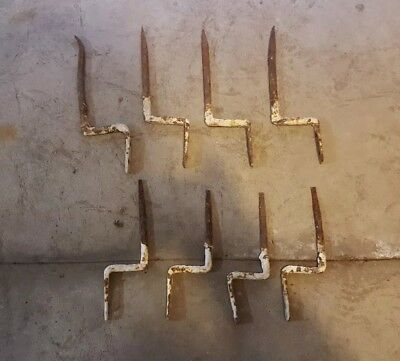 Lot of 8 Vintage Gutter Hangers Brackets for barn