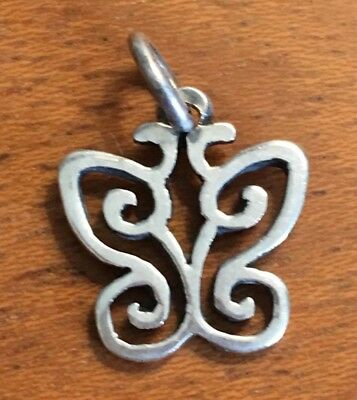 Retired James Avery Sterling Silver Butterfly Open Lace Wing Charm Buy It Now