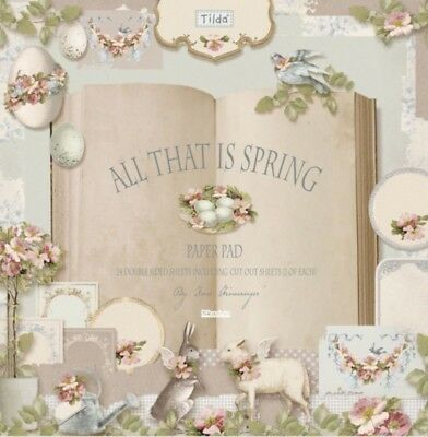 TILDA - 'All that is spring' scrapbook paper pad 12x12, pack of 24
