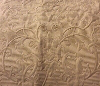 "SCHUMACHER 2 ""Accanthus Scroll"" Buff Color 100% Cotton Fabric Samples 27""x30"""