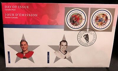 Bobby Hull and Syl Apps, Commemorative OFDC 2001 Canada Post Issue