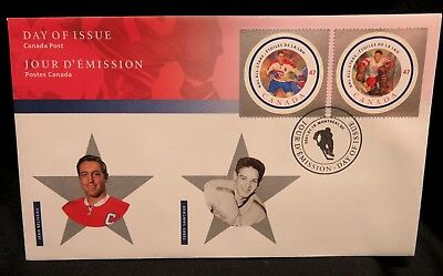 Jean Beliveau and Terry Sawchuk Apps Commemorative OFDC 2001 Canada Post Issue