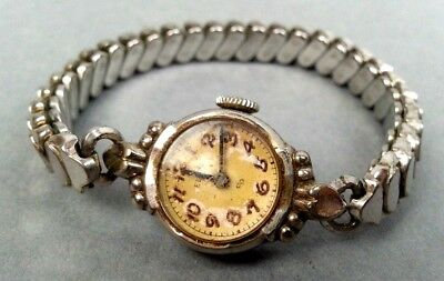 Vintage Old Elgin WristWatch With Stainless Steel Back Wrist Watch
