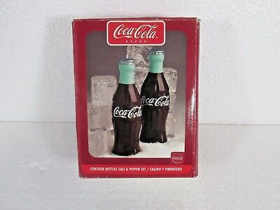 Gibson 2002 COKE Coca Cola Salt and Pepper Shakers Bottles Set 2002 NEW IN BOX