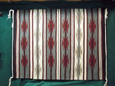 "Authentic Navajo Tapestry - Beautiful Crystal Pattern  22"" X 29"" - Exceptional!"