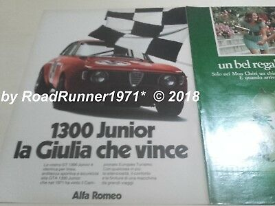 ALFA ROMEO GIULIA GT 1300 junior_pubblicità originale del 1972_advertising