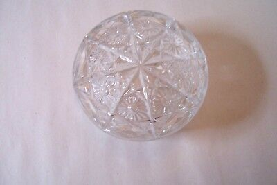 ANTIQUE EAPG Crystal Glass VANITY POWDER BOX