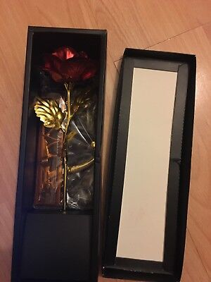 24K Gold Plated Rose Luxury Valentines Day Gift