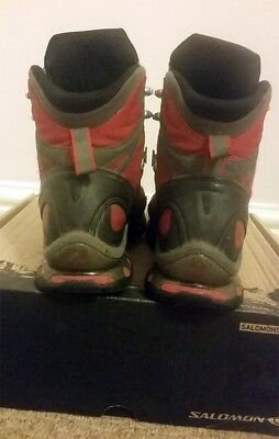 Los Angeles e3a17 7440e SALOMON COSMIC 4D Goretex walking boots red size 8.5 worn / used