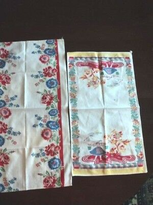 Vintage Two Cotton Towels From 1950's