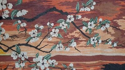 Large Version  Vintage Wallhanging Needlepoint Tapestry Canvas  *****Margot