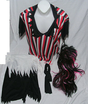 Women's Costume One Size Fits Most Pirate Outfit Wig Red Black Theater Cosplay