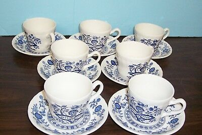 Lot Of 6 Wedgwood Blue Heritage Cups And Saucers Never Used Free U S Shipping