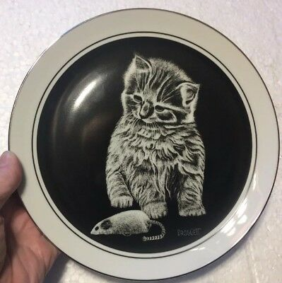 """Kitten's World"" Collector Plate, ""MY FAVORITE TOY"" by Droguett #707 of 27,500"