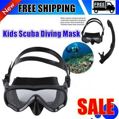 ALOMA Kids Scuba Diving Mask Silicone Snorkel Mask Durable Diving Masks Set KY