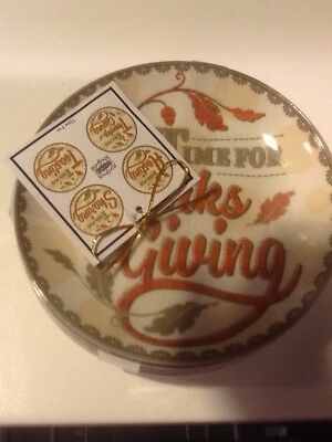 222Fifth Time For Thanksgiving 4 New Appetizer Dessert Plates