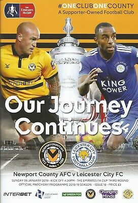 NEWPORT COUNTY v LEICESTER CITY   2018/19   FA CUP 3rd Round