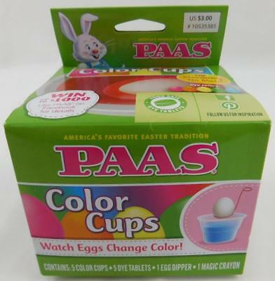 PAAS EGG DECORATING Kit Color Cups Egg Coloring Kit New
