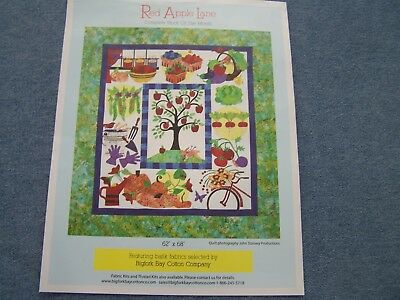 "Red Apple Lane Applique Quilt Kit By Pat Sloan Brand New  62""x68"""