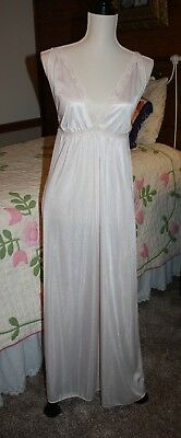 Vintage 70's 80's JcPenney Pink Lace Nightie Nightgown - Size Medium NYLON