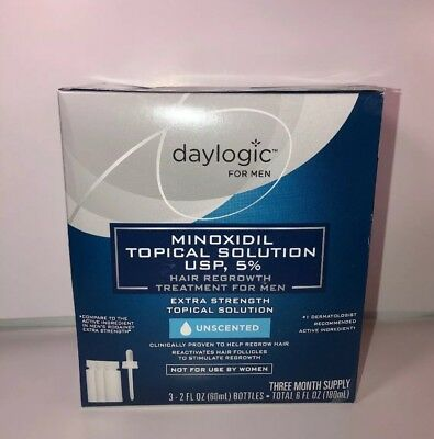 Daylogic Minoxidil Topical Solution USP 5% 3 month supply Hair Regrowth *09/19