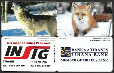 [EP2]-Albanian phonecards 2002, Lot of four.Used in very fine condition.