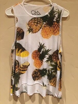 NWT Chaser Paradiso Tank Pineapple Tank Top Size Small