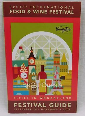 Disney Food & Wine Festival Guide Map Book 2008 New