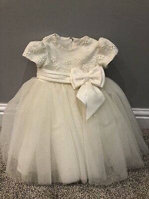 Gorgeous Sarah Louise Christening /Flower Girl Dress, Ivory, 6 Months (was £108)