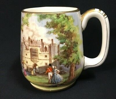 1930's Royal Winton Jug Hand Painted St. James Palace London Victorian Era Scene