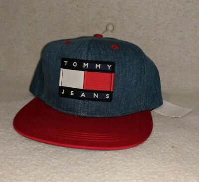 NWT Tommy Hilfiger Jeans Patch Denim Snapback Hat Urban Outfitters  Exclusive NEW f6933926356