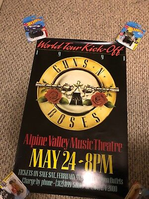 Guns N' Roses Use Your Illusion Tour Opener Poster Alpine Valley Wisconsin