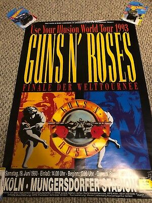 Guns N' Roses Use Your Illusion Tour Poster Germany 1993
