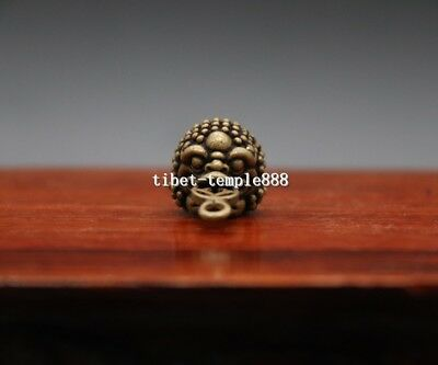 3 CM Chinese Bronze Wealth Fengshui Animal three leg Money toad bufonid culpture