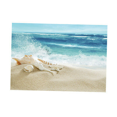 Aquarium Background Poster Beach Conch Backdrop Sticker Fish Tank Ornament