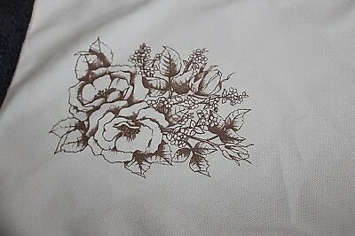 New Floral printed embroidery Linen - 79cm x 29cm