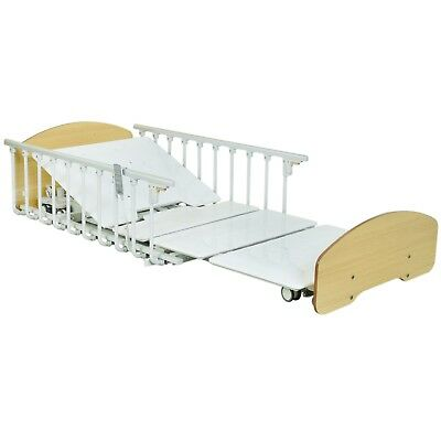 High & Low Full 5 Function HOSP Bed, Lowest bed (4.5 inch), Central Locking