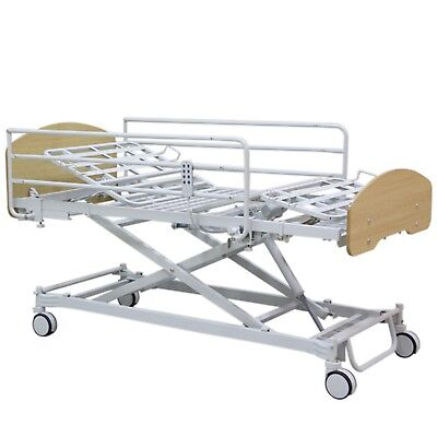 """Affordable HOSP Bed, Central Locking w/5"""" AL Caters, Dewert (Germany) Motor"""
