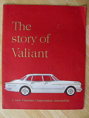 1960 Valiant Sales Brochure Chrysler Corp. Auto Dealer Spec Guide Advertisement